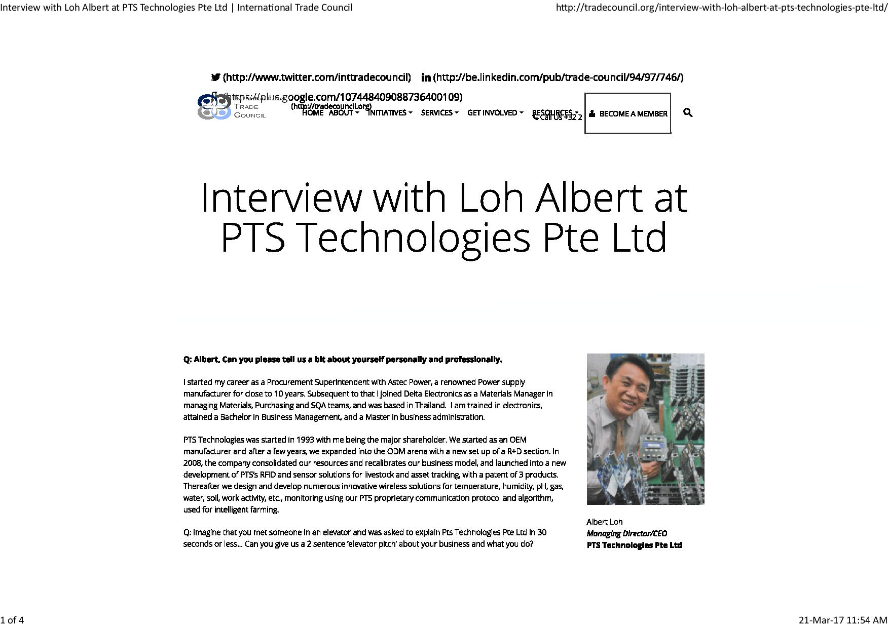 Interview with Loh Albert at PTS Technologies Pte Ltd   International Trade Council-page-001
